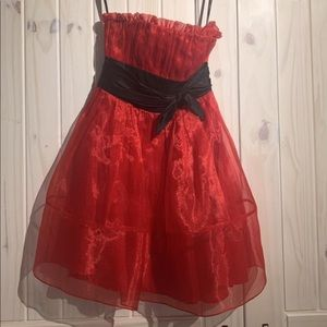 Betsey Johnson Red Taffeta Cocktail Dress